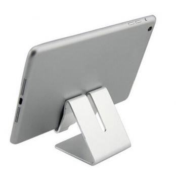 Aluminium tablet standaard zilverkleurig