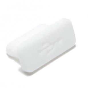 USB-C anti-stof plug wit (5 stuks)