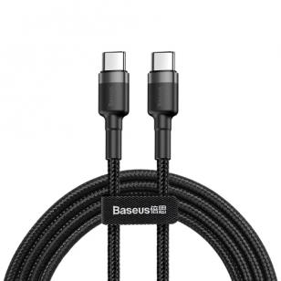 Baseus nylon USB-C naar USB-C PD kabel 1 meter
