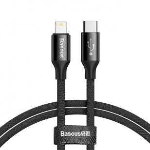 Baseus nylon Lightning naar USB-C PD kabel 1 meter
