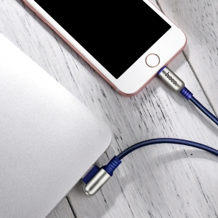 Hoco Lightning naar haakse omkeerbare USB kabel 60 cm