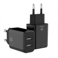 Mcdodo duo USB adapter 2.4A zwart