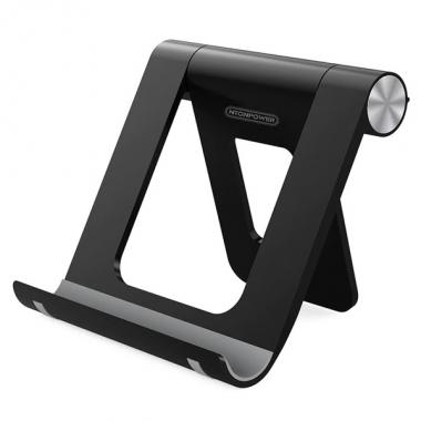 Universele bureaustandaard smartphone/tablet inklapbaar zwart