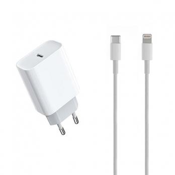 Lightning naar USB-C kabel 1 meter met oplader