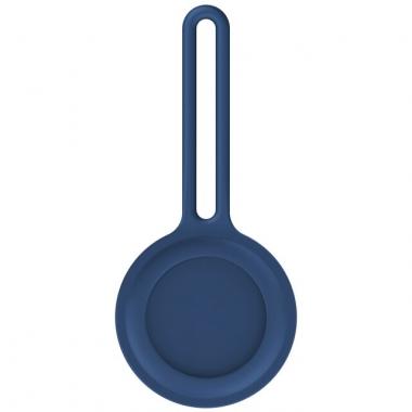 Blauwe siliconen houder voor AirTag