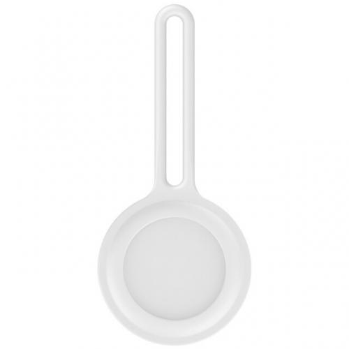 Witte siliconen houder voor AirTag