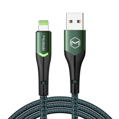 Mcdodo nylon Lightning naar USB kabel 1,8 meter zwart